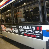 Rust Check Ad on Brampton Bus